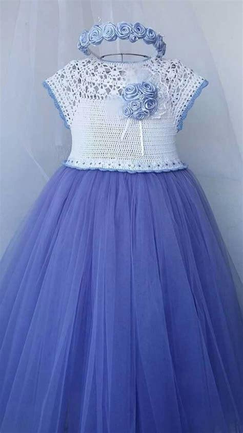 vestidos para nias con tejido ideas de vestidos tejidos para ni 241 a con falda de tul