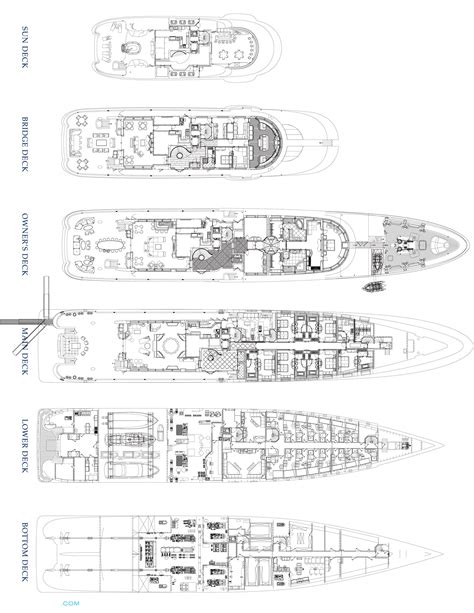 yacht palladium layout cakewalk luxury yacht deck plans yachts pinterest