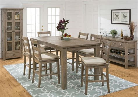 pine dining room sets slater mill pine counter height dining room set from jofran coleman furniture