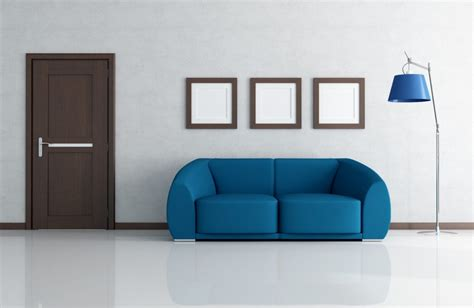 couch wall 3d room render sofa wooden floor modern living room 3d