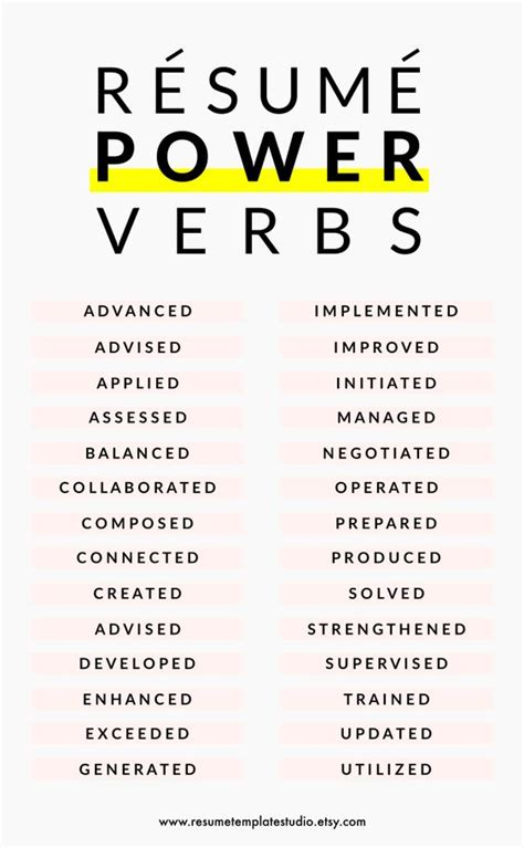 Verbs For Resume by Resume Power Verbs And Resume Tips To Boost Your Resume