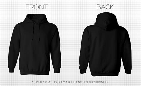 the gallery for gt hoodie template front and back