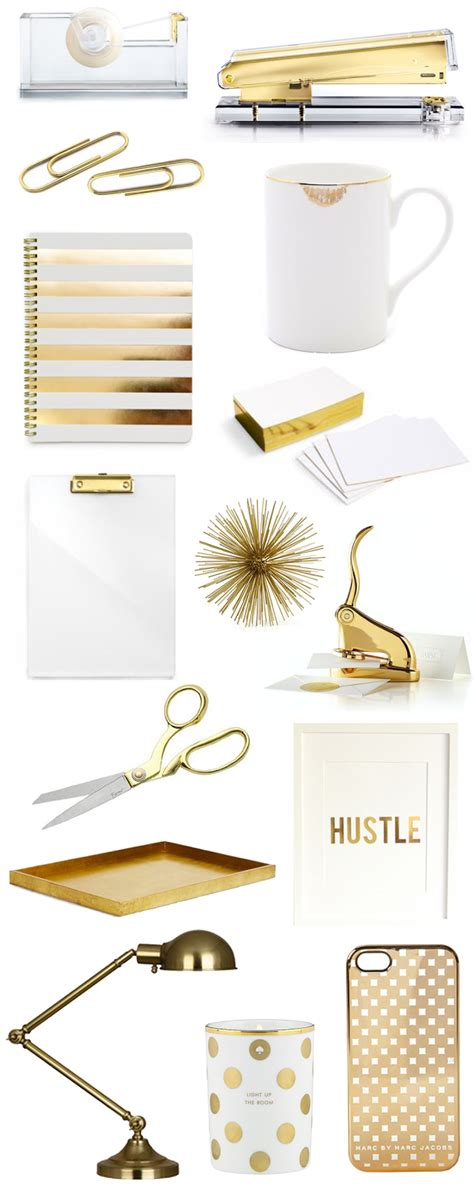 white and gold desk accessories gold office accessories bright and beautiful chicago