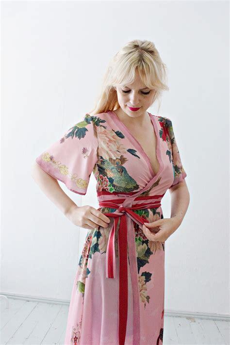 sewing diy cut  sew wrap dress