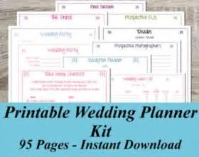 Free Printable Wedding Planner Templates Instant Download Ultimate Printable Wedding Planner Kit