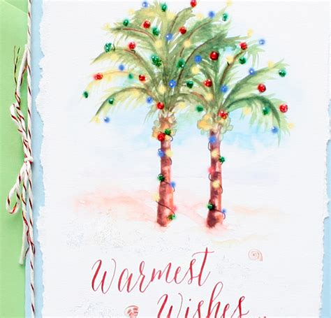 Palm Tree Christmas Cards   Mospens Studio