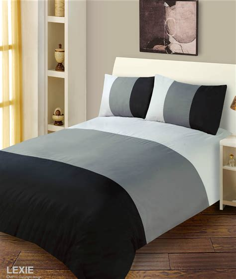 grey and black bedding black grey colour duvet cover microfiber bedding set