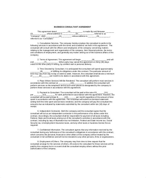consulting agreement forms sle consulting agreement forms 7 exles in word pdf
