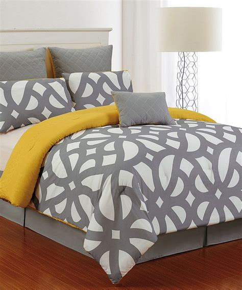 zulily bedding look at this gray citron uxbridge quilted comforter set