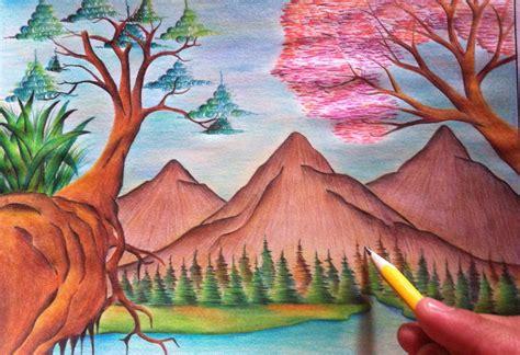 imagenes de paisajes sin color paisaje a color con crayones youtube