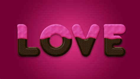 face typography tutorial photoshop cs3 chocolate text effect in photoshop for valentine s day