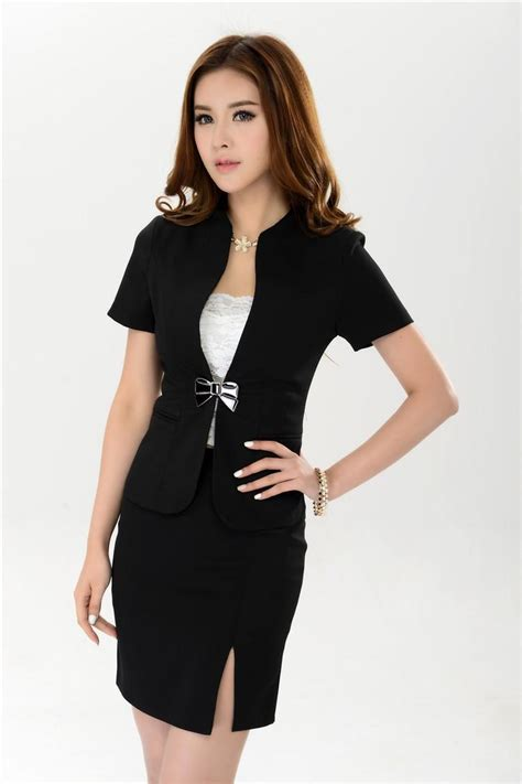 Blazer Set Skirt new 2016 summer business suits blazer skirt