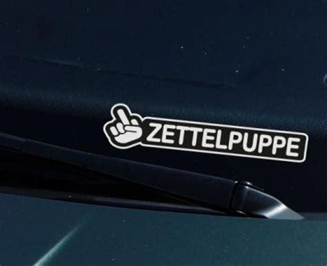 Scheiben Aufkleber Windschutzscheibe by Zettelpuppe Aufkleber Und Frontscheiben Fun Finger Sticker