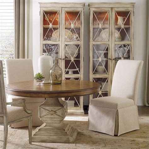 skirted dining room chairs hooker furniture sanctuary clarice skirted dining chair in