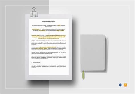 12 Student Contract Templates Free Sle Exle Format Download Free Premium Templates Simple Consulting Template