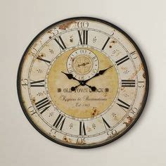 rustic crackle face oversize wall clock transitional stylish large wall clocks fun fashionable home