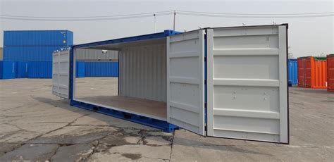 Typical Garage Size by At Amp S 187 20ft Container With Open Side