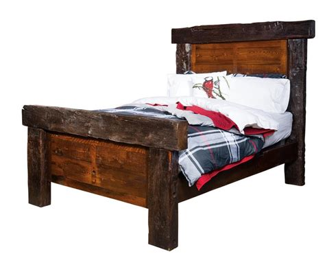 bed barn amish reclaimed barn beam bed