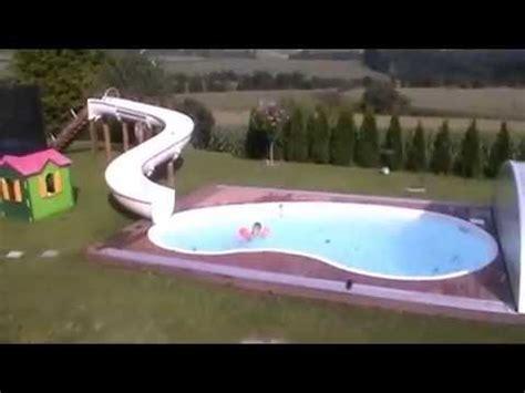 10m gfk wasserrutsche in den pool von jakob youtube