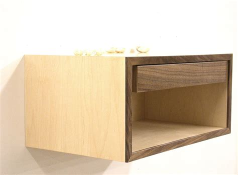 Floating Nightstand Shelf floating nightstand wall shelf bedside table by dldesignworks