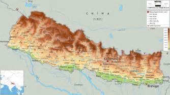 Nepal Maps by Physical Map Of Nepal Ezilon Maps