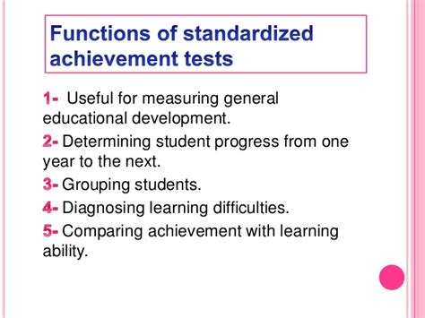 how to measure the accomplishment of the student dr ir standardized achievement tests sat