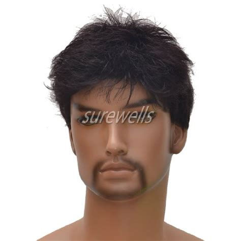 amazon com men s short dark brown wigs short wigs middle charming short dark brown men wigs for men lacefront wigs