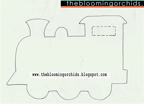 the tank engine template the blooming orchids the with free