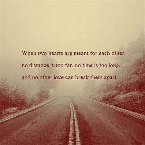 Distance Relationship Quotes Nothing Can Them Apart When Two Hearts Are Meant For