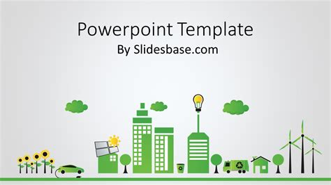 Green Energy Powerpoint Template Slidesbase Green Powerpoint Templates Free