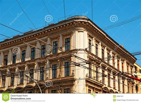 appartments in budapest apartment building in budapest hungary stock image
