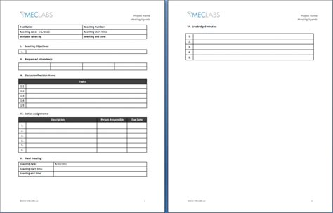agenda meeting template fax cover letters blank sign in
