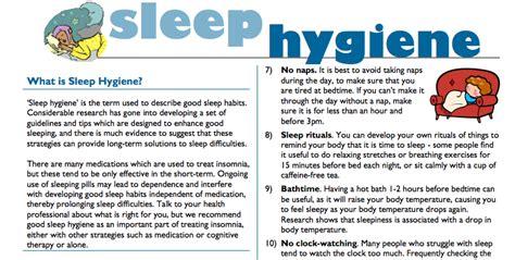 sleep hygiene trinity sleep hygiene