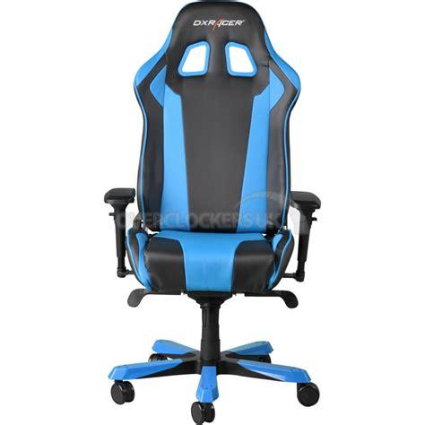 blue gaming chair dxracer king series gaming chair black blue ocuk