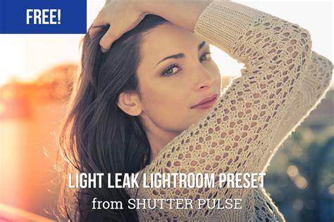 light lightroom presets free light leak lightroom preset shutter pulse