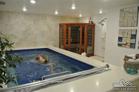 basement endless pool 174 contemporary swimming pools and