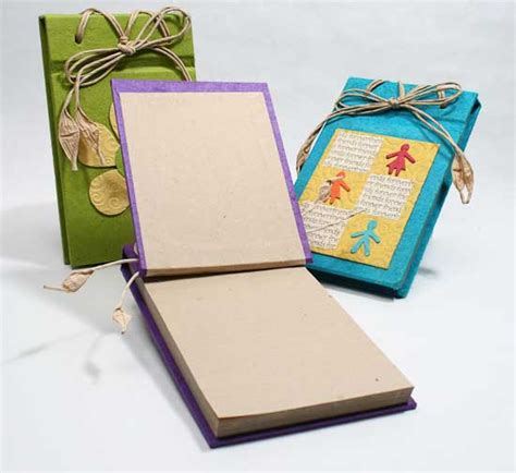 Handmade Paper Album - small handmade paper scrapbook album scrapbooking