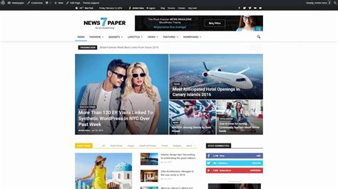 newspaper theme youtube newspaper 7 tutorial how to update theme via wordpress