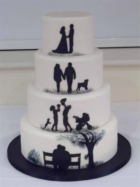 Silhouette Anniversary   Cake by The Cake Lady (Tracy