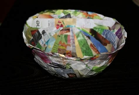 How To Make A Paper Bowl - how to make a diy recycled paper bowl inhabitots
