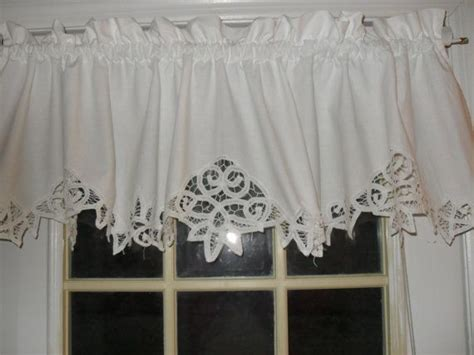 country curtains valances sale on sale white shabby battenburg lace valance country