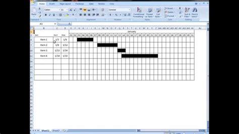 excel tutorial  interactive visual schedule gantt chart   formula youtube