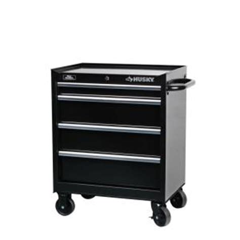 4 Drawer Tool Cabinet by Husky 27 In Wide 4 Drawer Tool Cabinet Black H4tr1r