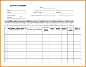 11 sworn construction statement workout spreadsheet