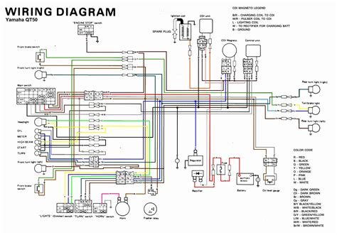 yamaha qt color coded schematic moped army
