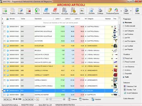banco di brescia melegnano soluzione magazzino gestione azienda software