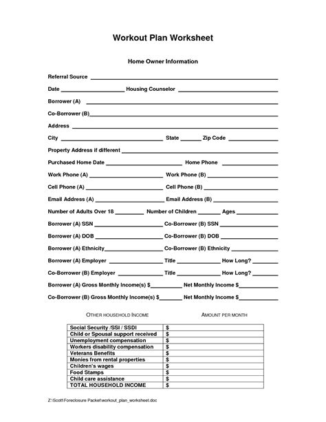 Grief And Loss Worksheets by 15 Best Images Of Exercise Plan Worksheet Personal
