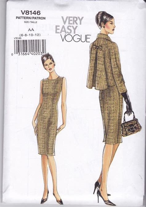 patterns sewing easy very easy vogue sewing pattern misses jacket dress