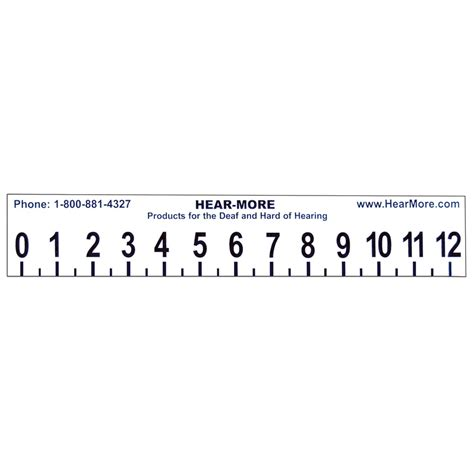 maxiaids large print 12 inch ruler with sign language