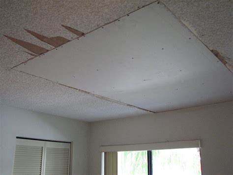 water damaged popcorn ceiling repair project showcase
